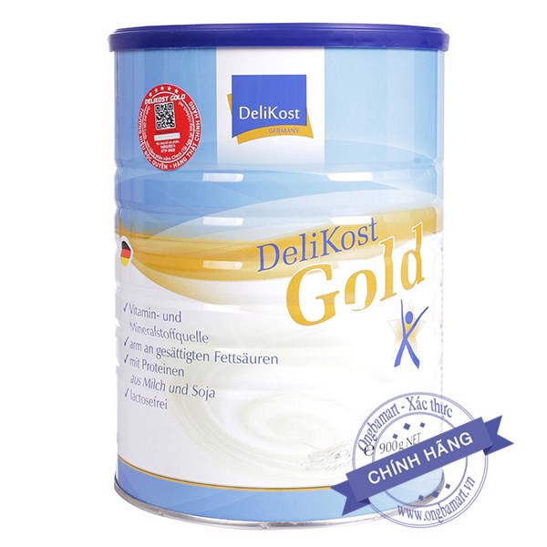 Sữa Delikost Gold Hộp thiếc 900g