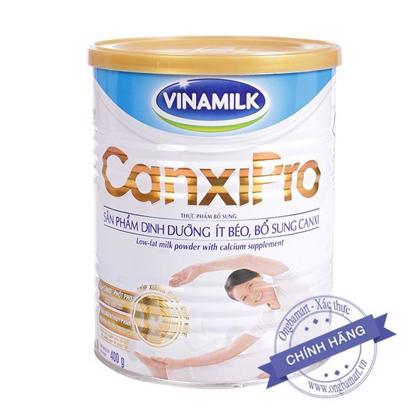 Sữa Vinamilk CanxiPro Hộp thiếc 400g