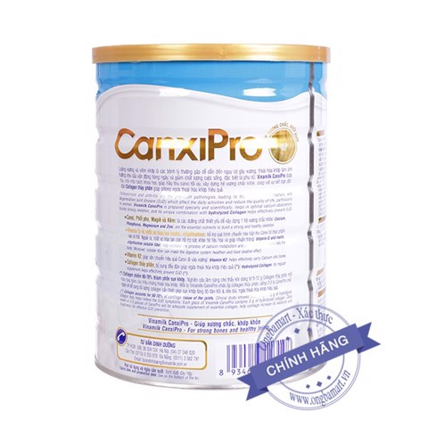 Sữa Vinamilk CanxiPro Hộp thiếc 900g