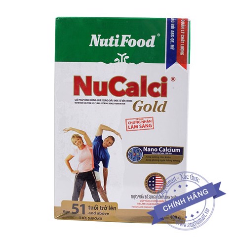 Sữa NuCalci Gold Hộp giấy 400g