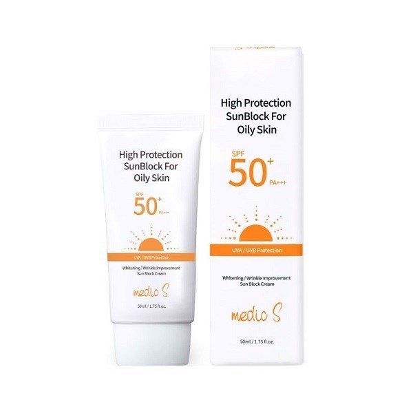 Kem Chống Nắng Medic S High Protection Sunblock For Oily Skin SPF50+ PA+++