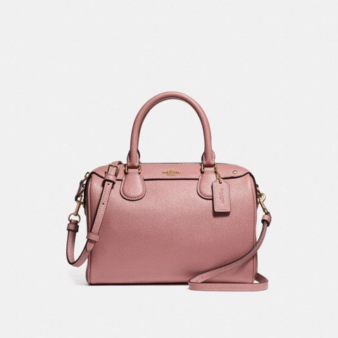 Túi COACH MINI BENNETT SATCHEL WITH DITSY FLORAL PRINT INTERIOR F31084 Vintage Pink-LIGHT GOLD