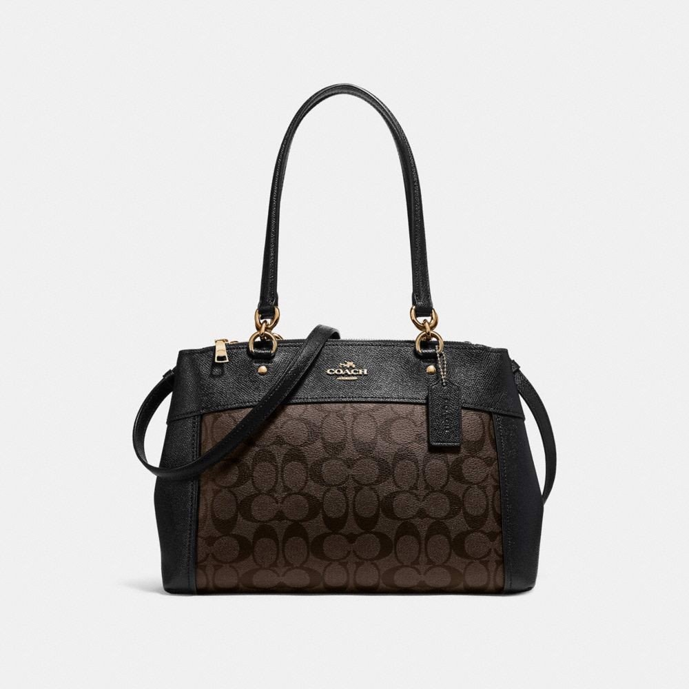 Túi COACH BROOKE CARRYALL F25396 BROWN-BLACK-IMITATION GOLD