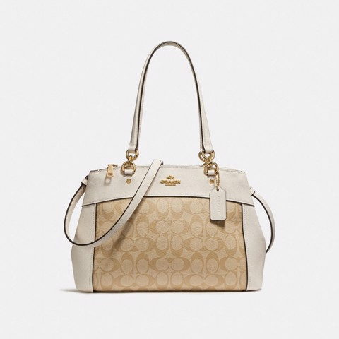 Túi COACH BROOKE CARRYALL F25396 LIGHT KHAKI-CHALK-IMITATION GOLD