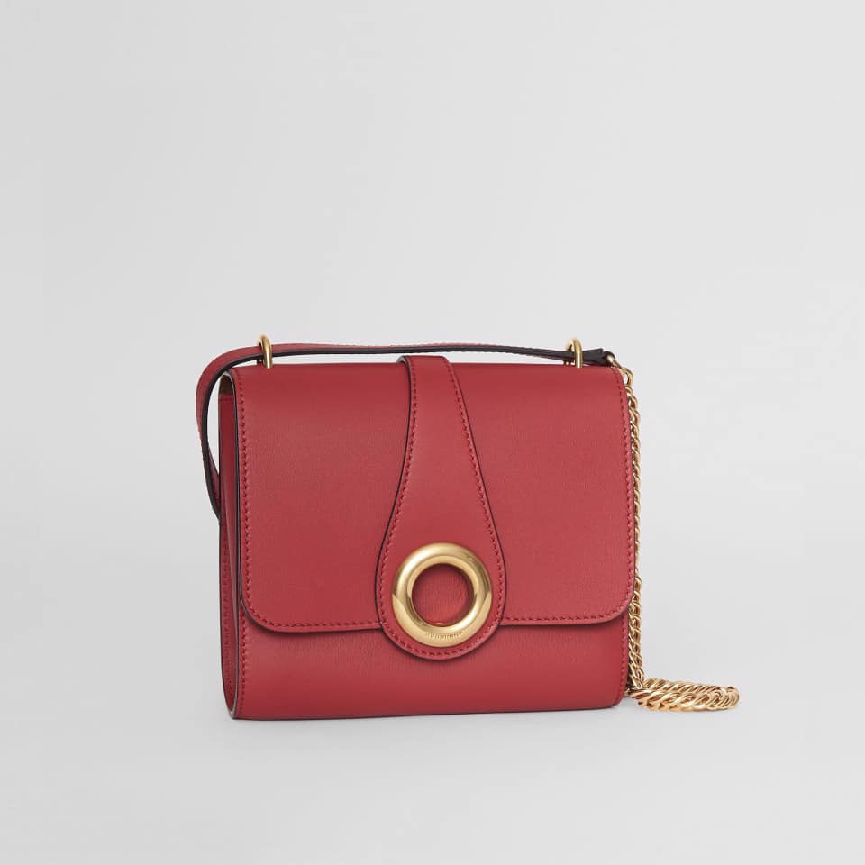 TÚI XÁCH BURBERRY Leather Grommet Detail Crossbody Bag