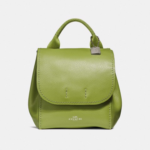Túi COACH DERBY BACKPACK F59819 YELLOW GREEN-SILVER