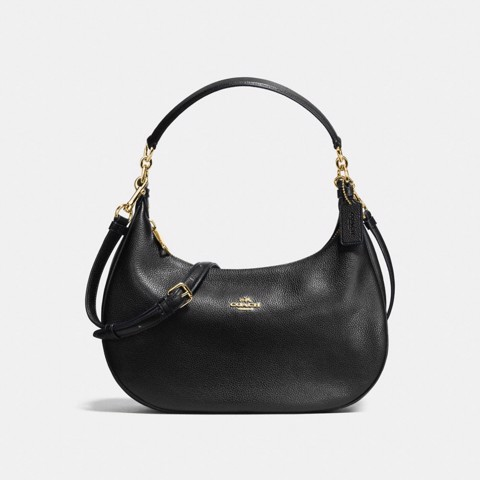 Túi COACH EAST-WEST HARLEY HOBO F38250 BLACK-IMITATION GOLD