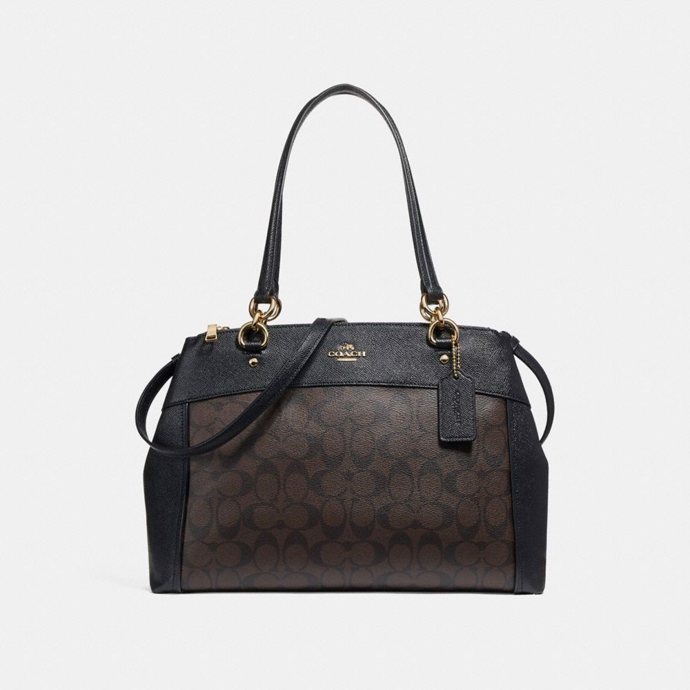 Túi COACH LARGE BROOKE CARRYALL F26140 BROWN-BLACK-IMITATION GOLD