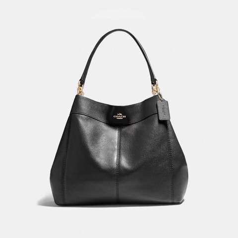 Túi COACH LARGE LEXY SHOULDER BAG F23511 BLACK-IMITATION GOLD
