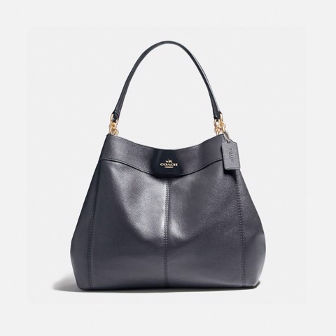 Túi COACH LARGE LEXY SHOULDER BAG F23511 MIDNIGHT-IMITATION GOLD
