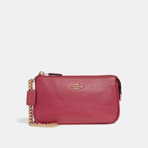 Túi COACH LARGE WRISTLET 19 F30258 TRUE RED-IMITATION GOLD