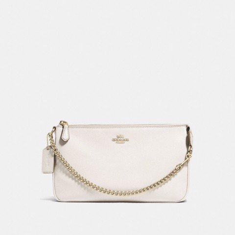 Túi COACH LARGE WRISTLET 19 F53340 CHALK-IMITATION GOLD