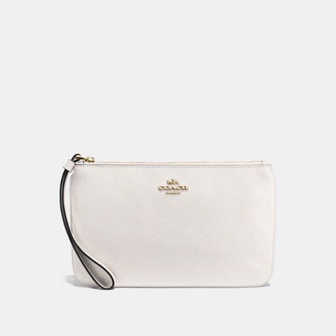 Túi COACH LARGE WRISTLET F57465 CHALK-IMITATION GOLD