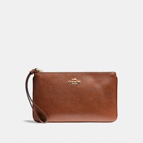 Túi COACH LARGE WRISTLET F57465 saddle 2-imitation gold