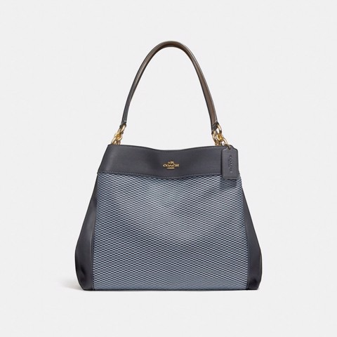 Túi COACH LEXY SHOULDER BAG F27575 BLUE-MULTI-LIGHT GOLD