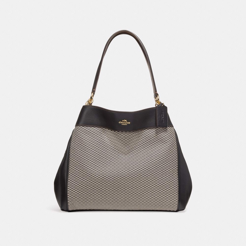 Túi COACH LEXY SHOULDER BAG F27575 MILK-BLACK-LIGHT GOLD
