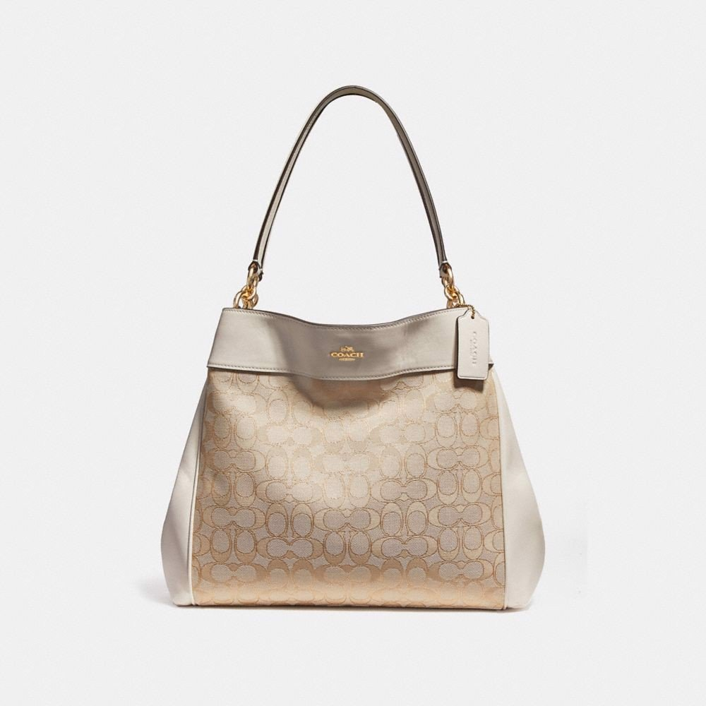 Túi COACH LEXY SHOULDER BAG F27579 LIGHT KHAKI-CHALK-IMITATION GOLD