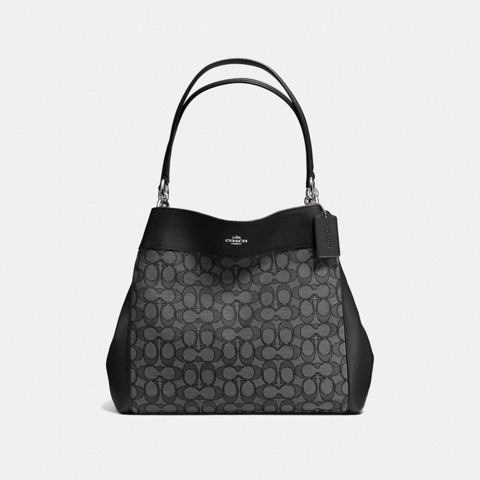 Túi COACH LEXY SHOULDER BAG F57612 BLACK SMOKE-BLACK-SILVER