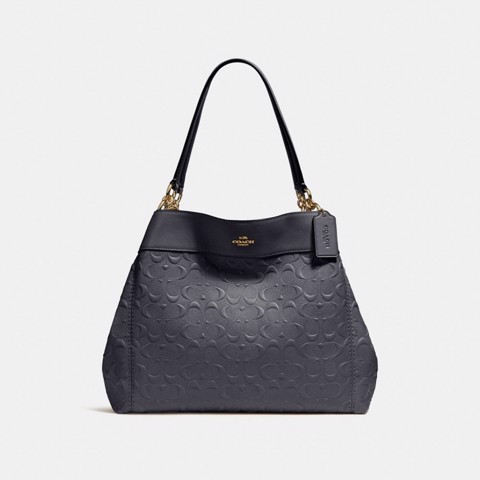 Túi COACH LEXY SHOULDER BAG IN SIGNATURE LEATHER F25954 MIDNIGHT-IMITATION GOLD