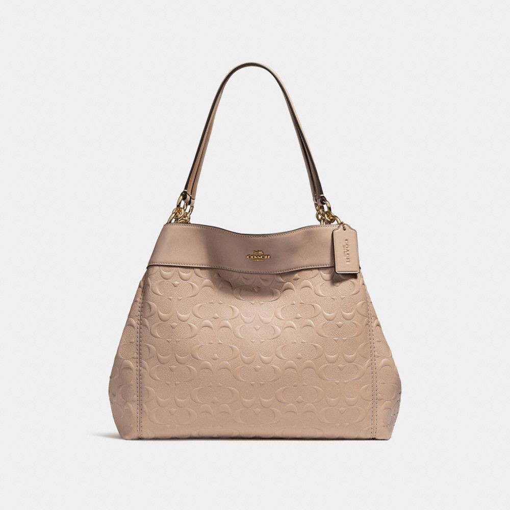 Túi COACH LEXY SHOULDER BAG IN SIGNATURE LEATHER F25954 nude pink-imitation gold