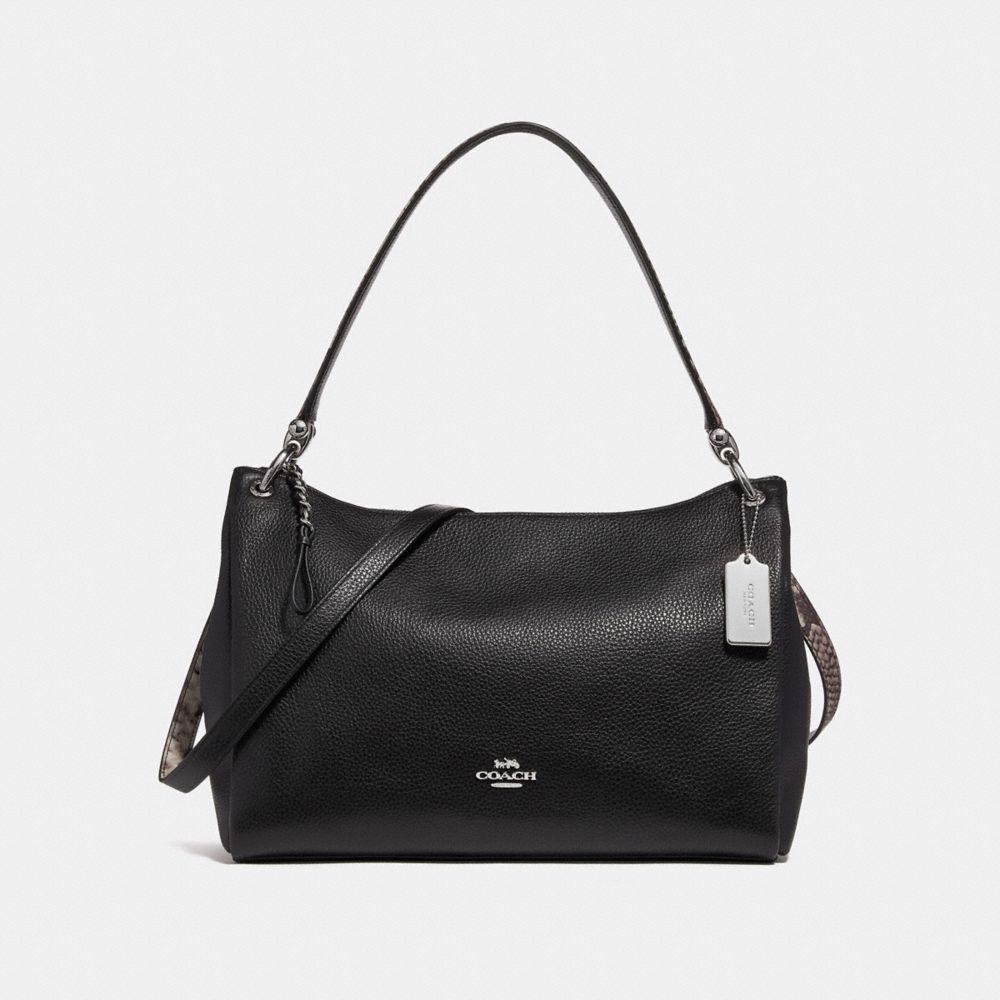 Túi COACH MIA SHOULDER BAG F28987 BLACK-MULTI-SILVER