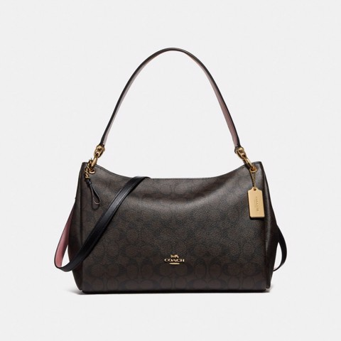 Túi COACH MIA SHOULDER BAG IN SIGNATURE CANVAS F28967 BROWN-BLACK-IMITATION GOLD