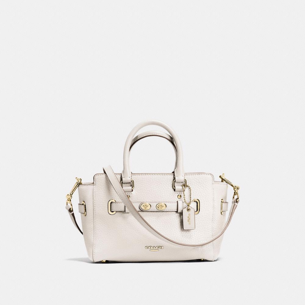 Túi COACH MINI BLAKE CARRYALL F37635 CHALK-IMITATION GOLD