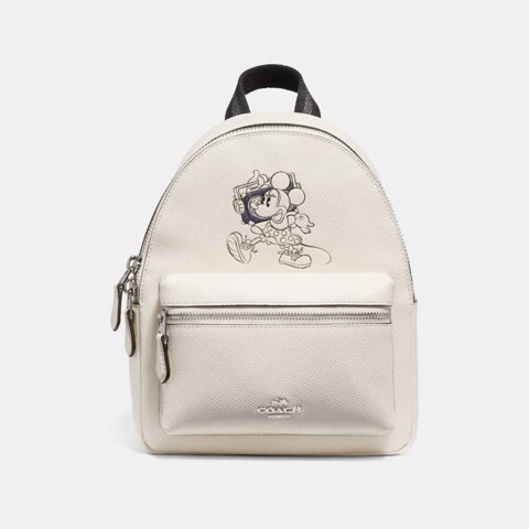 Túi COACH MINI CHARLE BACKPACK WITH MINNIE MOUSE MOTIF F29353 SILVER-CHALK