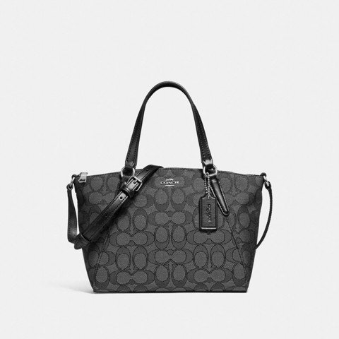 Túi COACH MINI KELSEY SATCHEL F27580 BLACK SMOKE-BLACK-SILVER