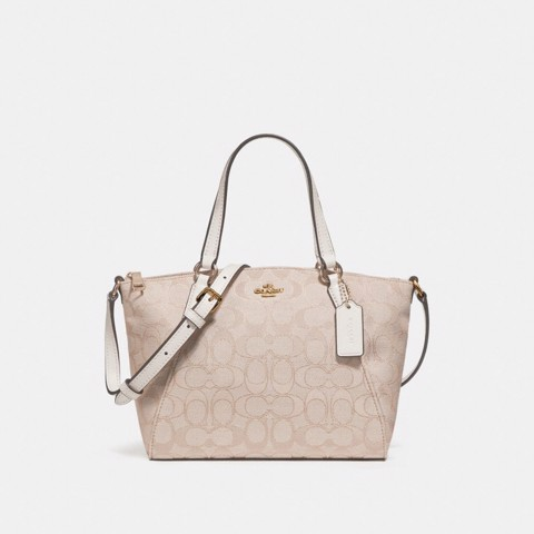 Túi COACH MINI KELSEY SATCHEL F27580 LIGHT KHAKI-CHALK-IMITATION GOLD