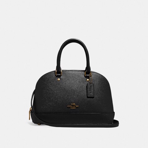 Túi COACH MINI SIERRA SATCHEL F27591 BLACK-IMITATION GOLD