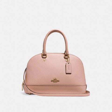 Túi COACH MINI SIERRA SATCHEL F27591 nude pink-imitation gold