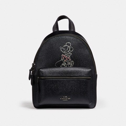 Túi COACH MINI CHARLE BACKPACK WITH MINNIE MOUSE MOTIF F29353 ANTIQUE NICKEL-BLACK