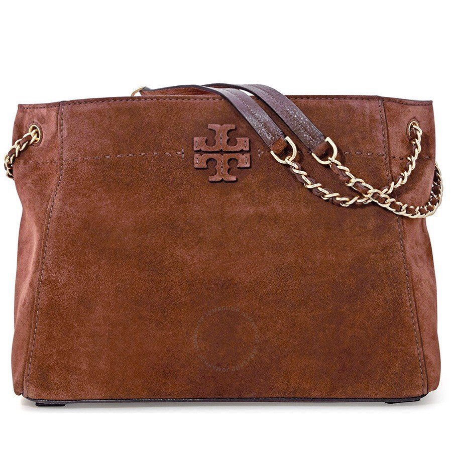 Túi xách TORY BURCH 41864-235 McGraw Suede Chain-Shoulder Slouchy Tote - Buffalo