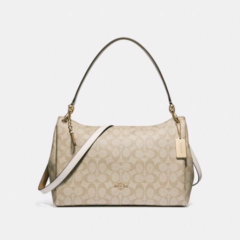 Túi COACH MIA SHOULDER BAG IN SIGNATURE CANVAS F28967 LIGHT KHAKI-CHALK-IMITATION GOLD