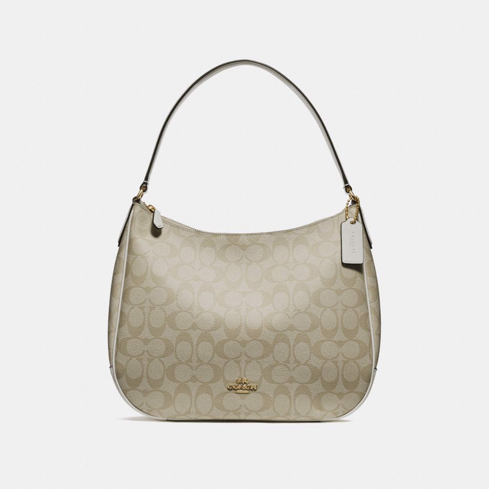 Túi COACH ZIP SHOULDER BAG IN SIGNATURE CANVAS F29209 LIGHT KHAKI-CHALK-IMITATION GOLD