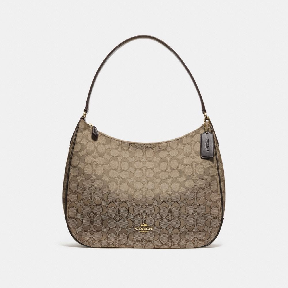 Túi COACH ZIP SHOULDER BAG IN SIGNATURE JACQUARD F29959 KHAKI-BROWN-IMITATION GOLD