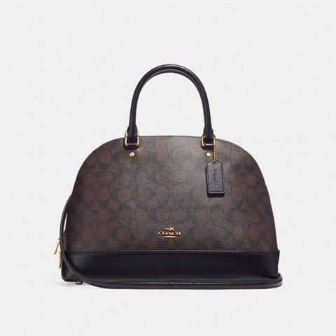 Túi COACH SIERRA SATCHEL F27584 BROWN-BLACK-IMITATION GOLD