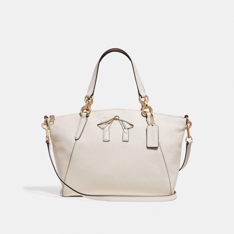Túi COACH SMALL KELSEY SATCHEL WITH BOW F28969 CHALK-IMITATION GOLD
