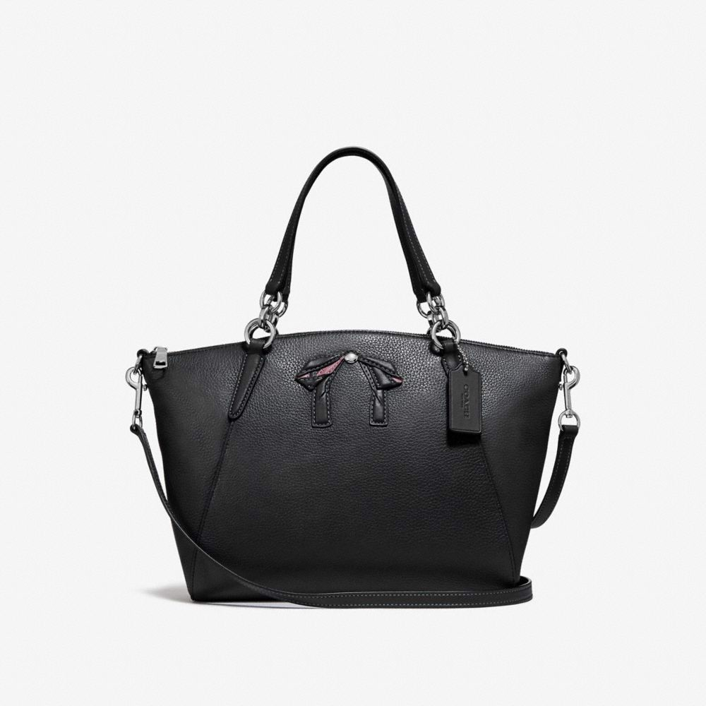 Túi COACH SMALL KELSEY SATCHEL WITH BOW F28969 SILVER-MIDNIGHT