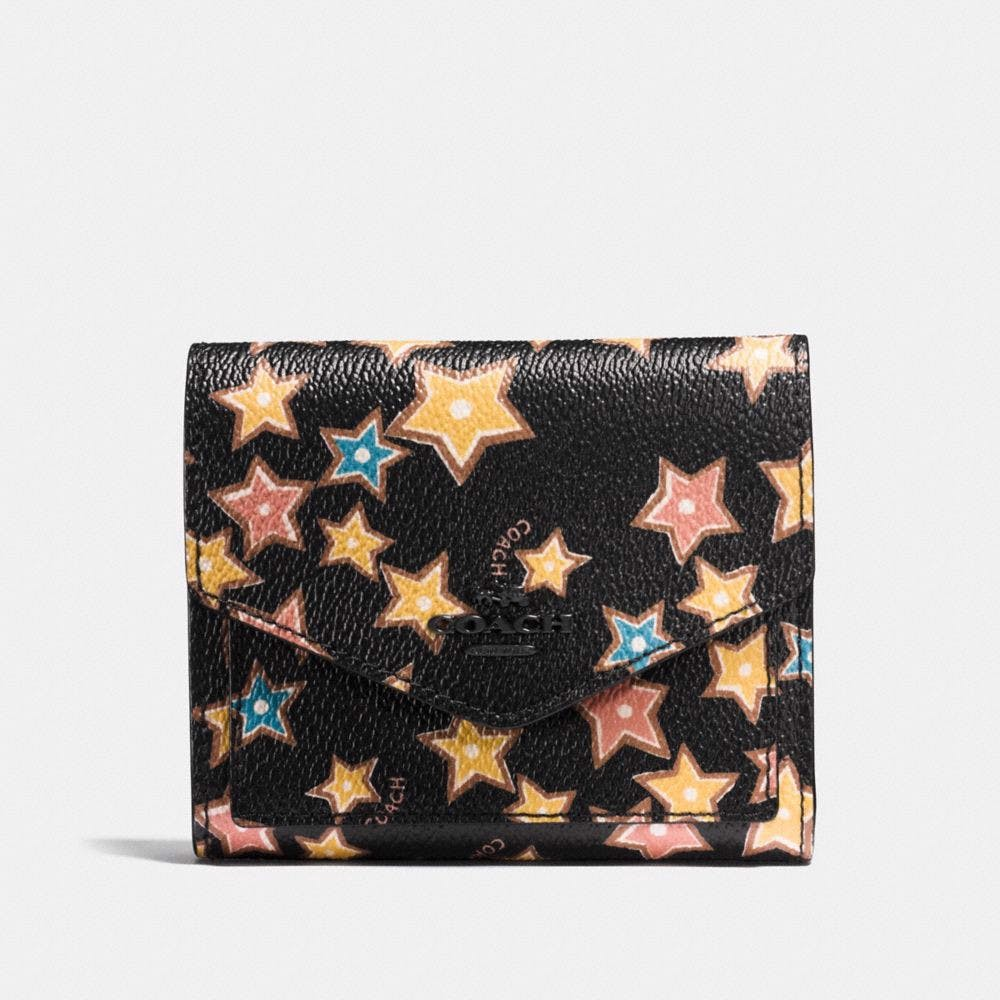 Túi Coach small wallet with starlight print