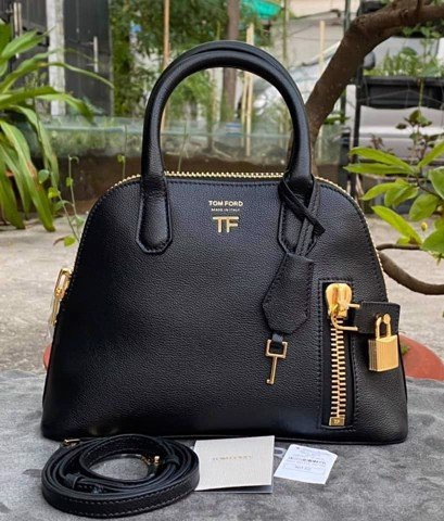 TÚI TOM Ford Buffalo Grain Small Top Handle Bag