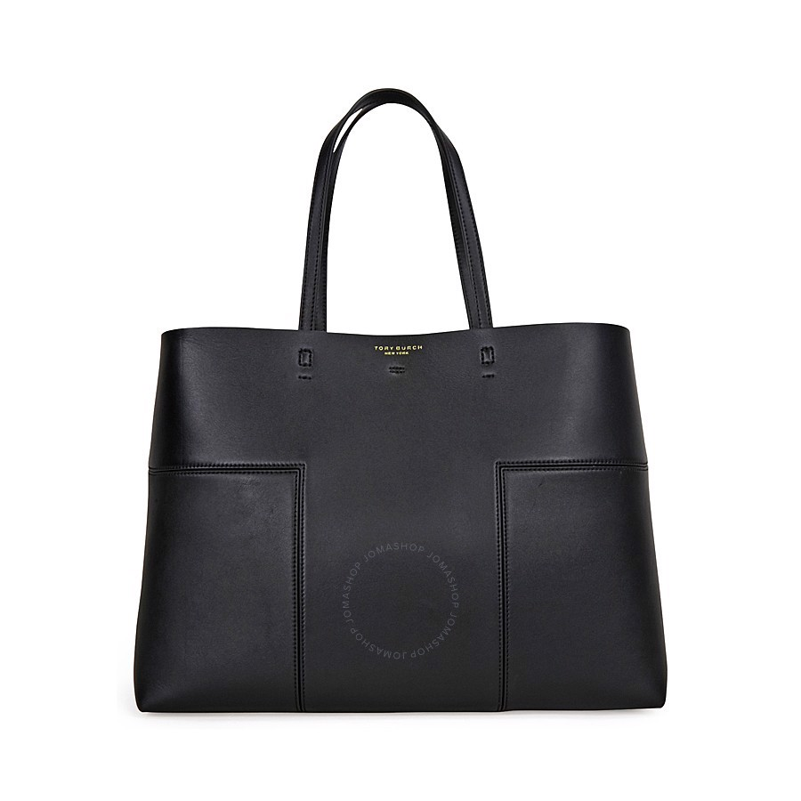 Túi xách TORY BURCH 11169616-001 Block-T Leather Tote- Black