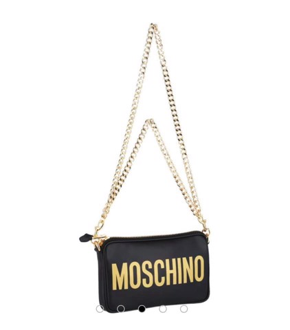 TÚI MOSCHINO Logo Leather Crossbody