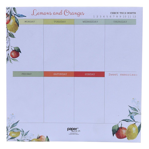 so lemons oranges planner 17x17