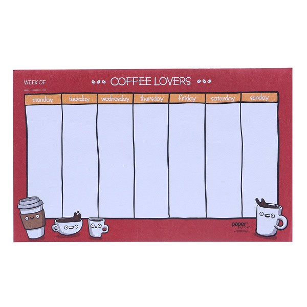 so coffee lover planner 13x21
