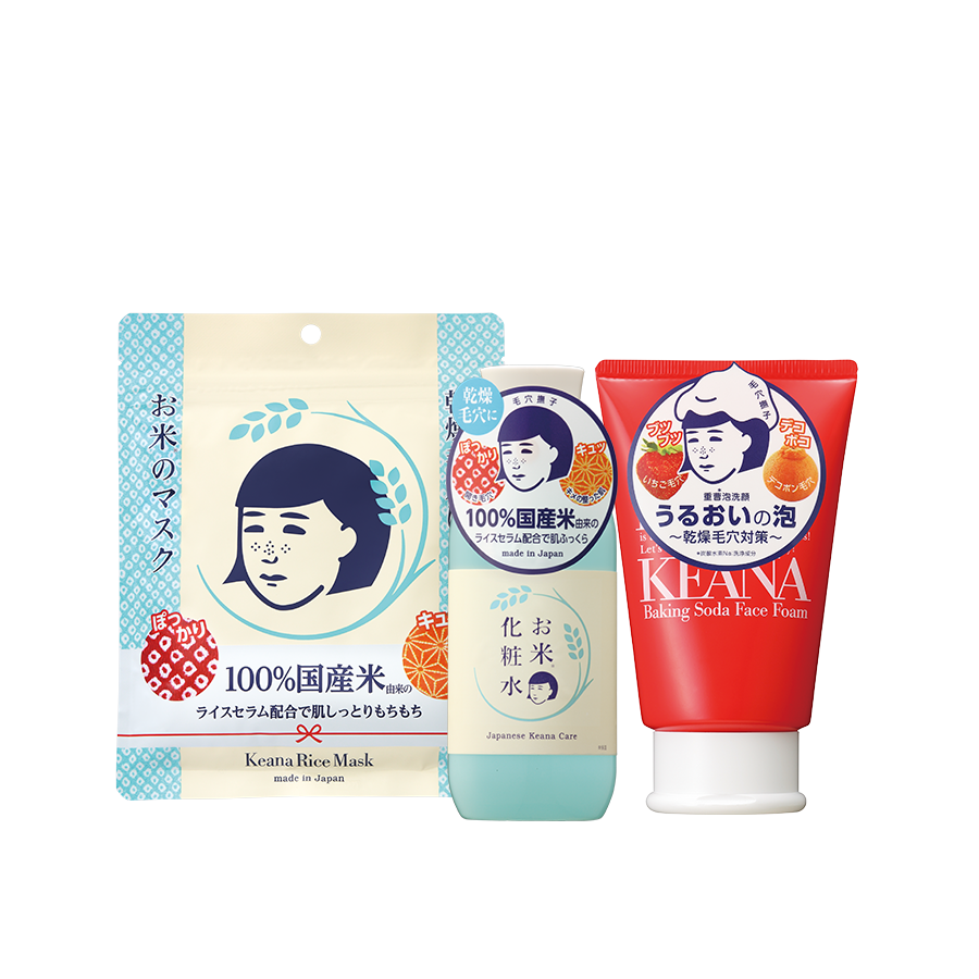 COMBO K1: Kean Rice Toner + Keana Rice Mask + Keana Baking Soda Foam Wash