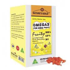 Omega 3 For Kids + VIT D3 _ NATURE'S GOLD