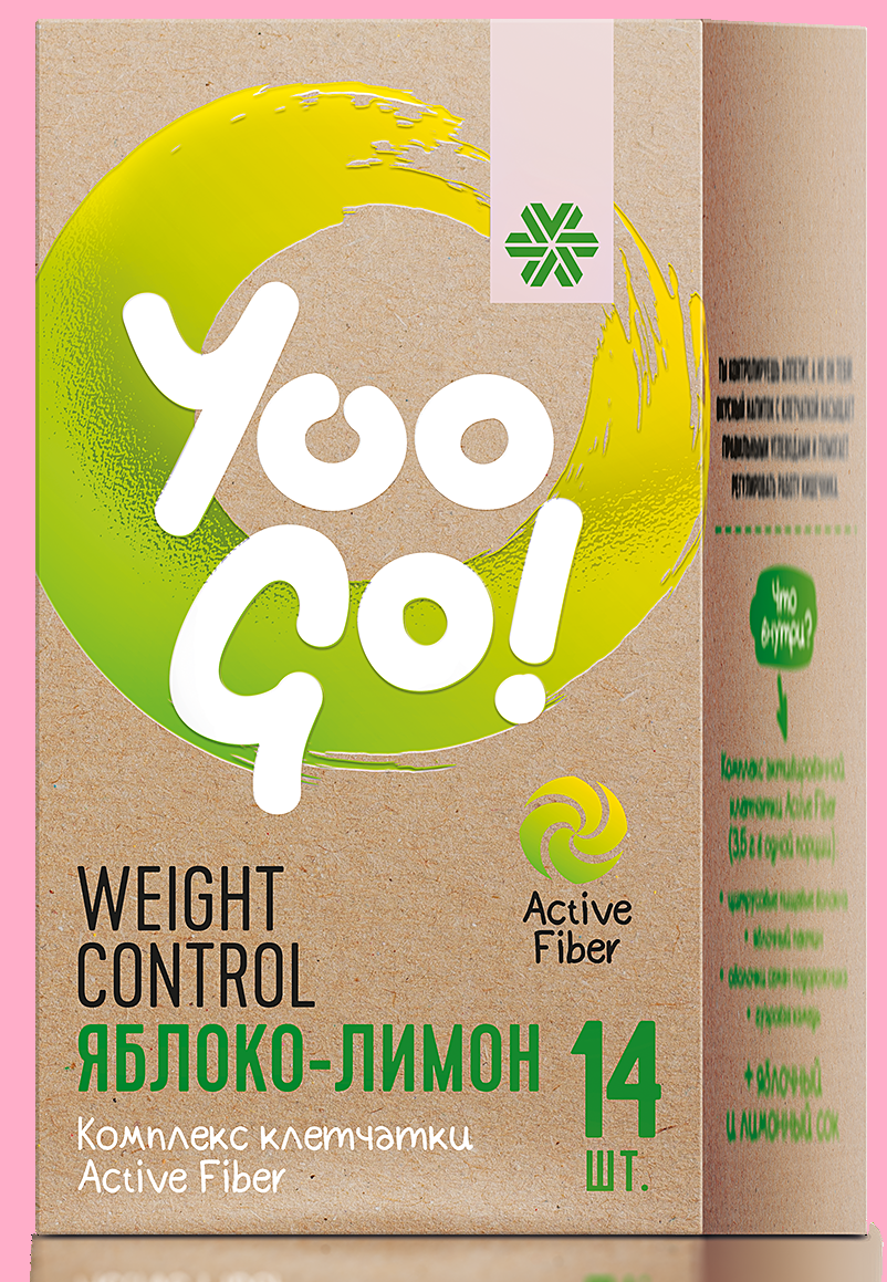 YOO GO Weight control Drink mix Apple & Lemon