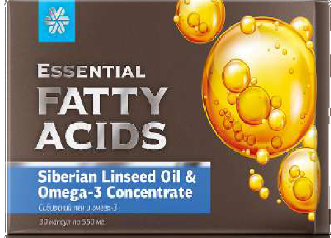 Essential fatty acids Siberian linseed oil & omega-3 concentrate